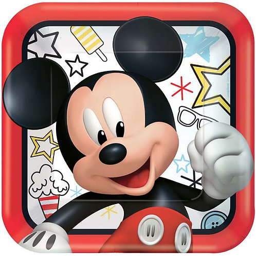 Mickey on the Go Lunch Plates 8ct