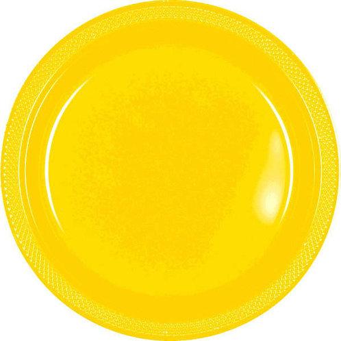 Yellow 10in Plastic Plates 20ct
