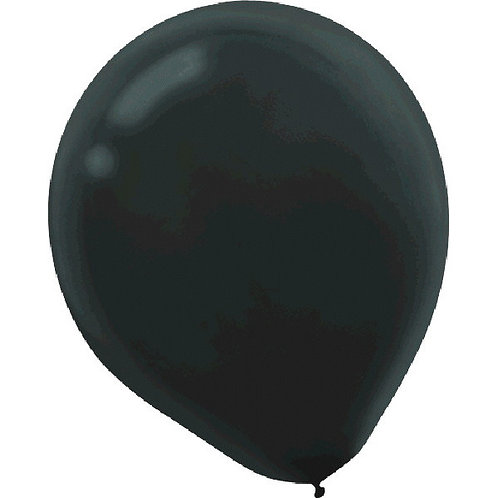 Black 9in Latex Balloons - Packaged, 20ct