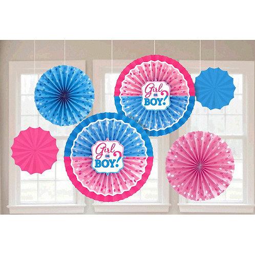 Girl or Boy? Paper Fan Decorations