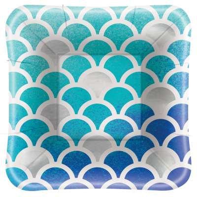 Ocean Blue Scallop Foil
