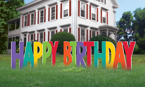 Birthday Accessories Rainbow Corrugate Yard Sign