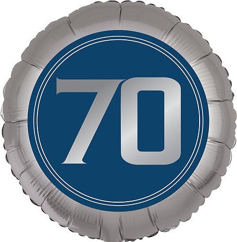 #382 Happy Birthday Man 70 18in Balloon