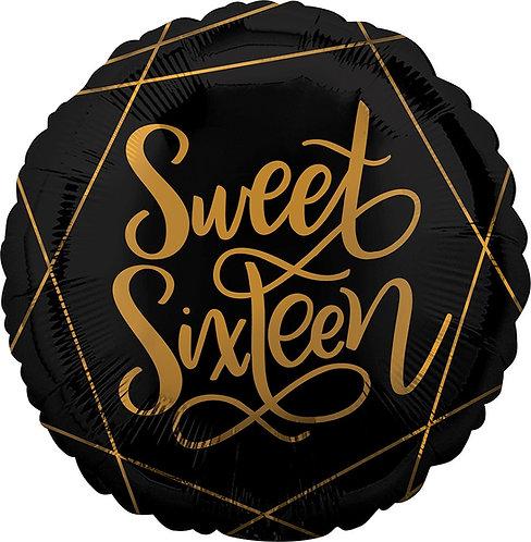 #355 Elegant Sweet Sixteen 18in Balloon