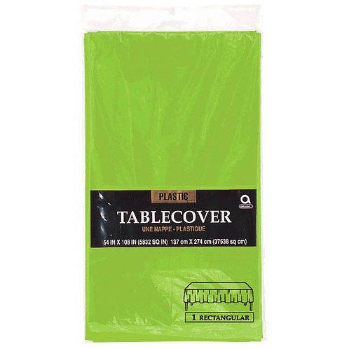 "Kiwi Green Rectangular Plastic Table Cover, 54"" x 108"""