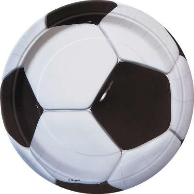 "Soccer Round 9"" Dinner Plates 8ct"