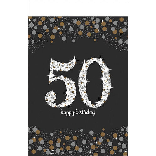 Sparkling Celebration 50 Plastic Table Cover