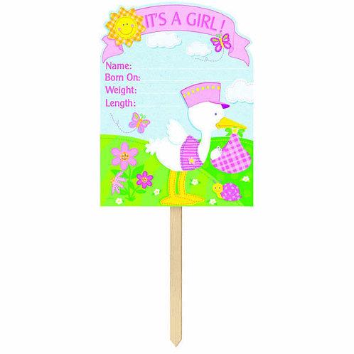 Bundle of Joy - It's A Girl! Giant Yard Sign