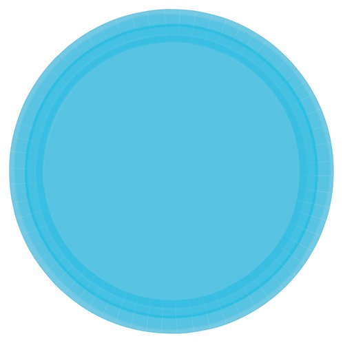 Caribbean Blue 10in Paper Plates 20ct