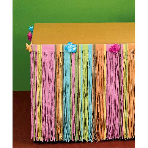 Floral Tissue Table Skirt