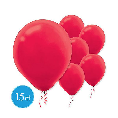 Red Latex Balloons - Packaged, 15ct
