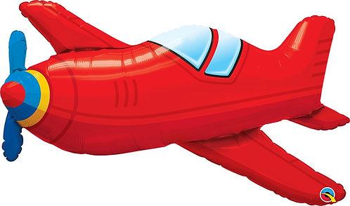 #232 Red Vintage Airplane 36in Balloon