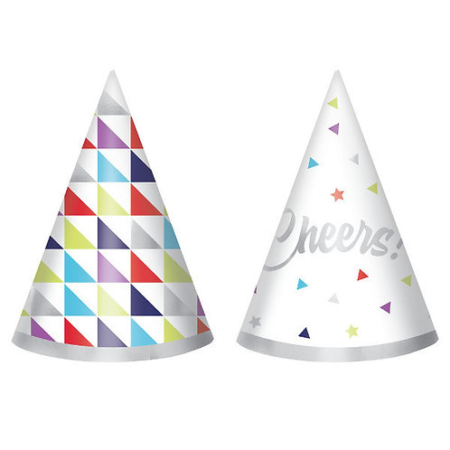 Here's To Your Birthday Mini Packaged Foil Cone Hats