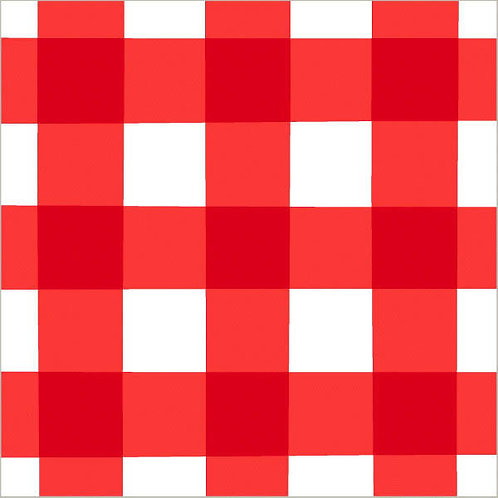 Red Gingham Lunch Napkins 16ct
