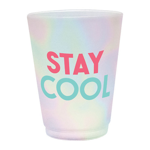 Just Chillin' Frosted Plastic 14oz Tumblers 8ct
