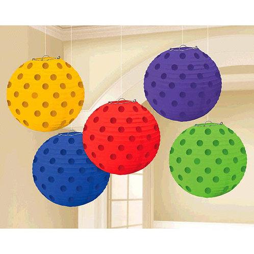 Mini Paper Lanterns 5ct - Assorted Colors