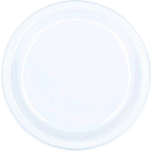 Clear 7in Plastic Plates 20ct
