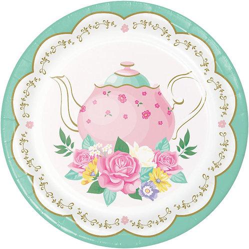 Floral Tea Party Dessert Plates 8ct