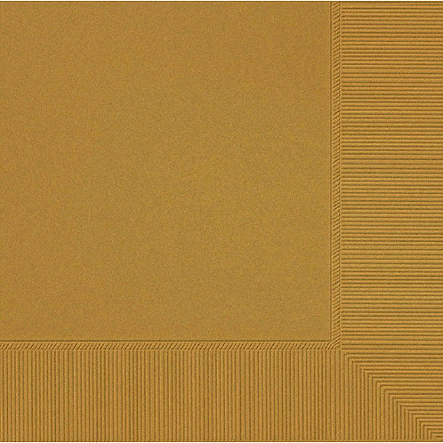 Gold Lunch Napkins 50ct