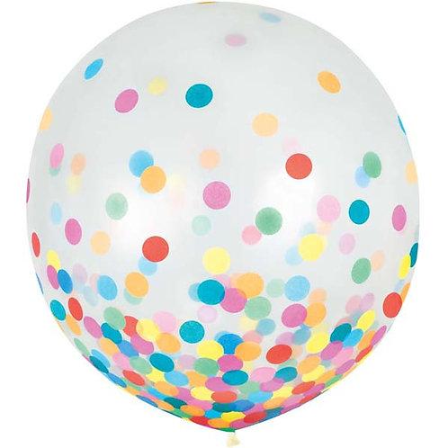 Primary Confetti 24in Latex Balloons 2ct