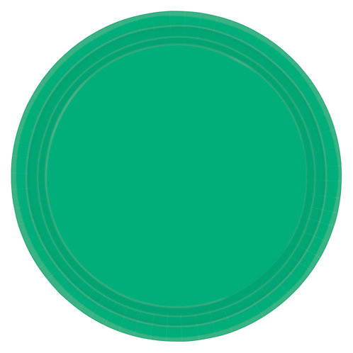 Green 10in Paper Plates 20ct