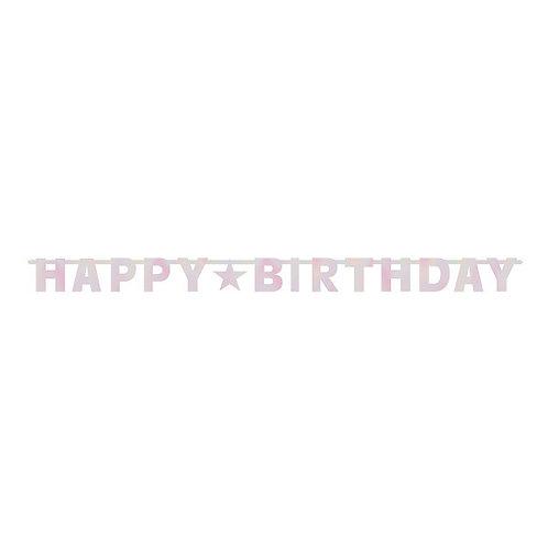 Birthday Pinks Letter Banner