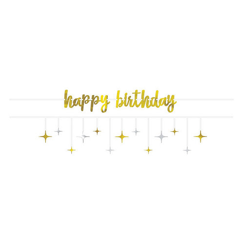 Birthday Accessories Silver & Gold Multi Pack Banners