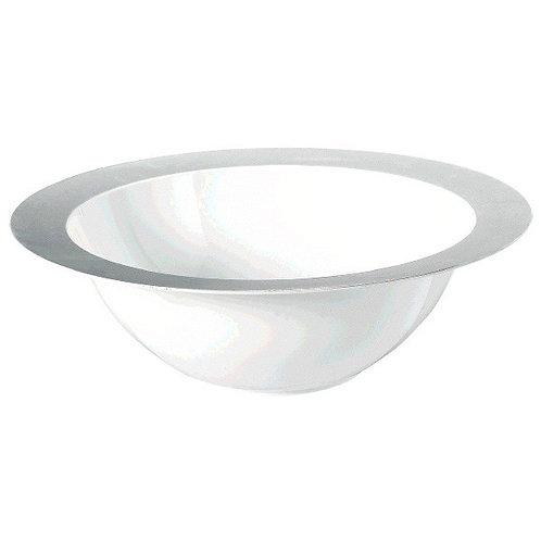White Bowl w/Silver Rim 3.75qt