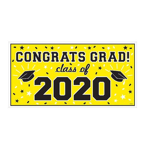 "2020 Grad Banner 65"" x 33 1/2"" - Yellow"