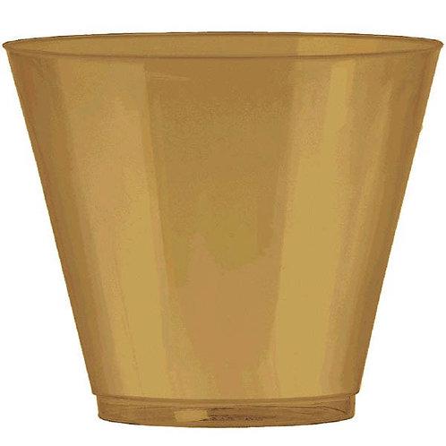 Gold 9oz Plastic Cups 72ct