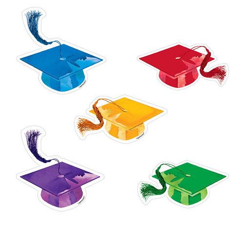 Grad Mini Super Value Packaged Paper Cutouts - Multicolor