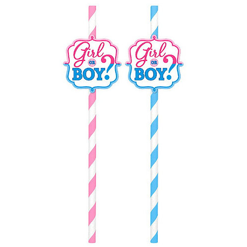 Girl or Boy? Paper Straws