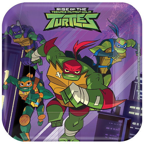 Rise of the TMNT Dessert Plates 8ct