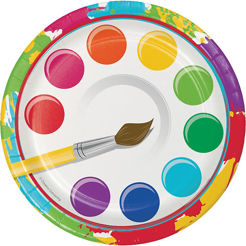 Art Party Dessert Plates 8ct
