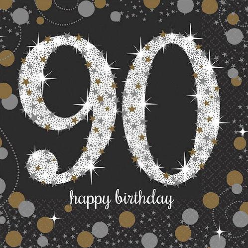 Sparkling Celebration 90 Beverage Napkins 16ct