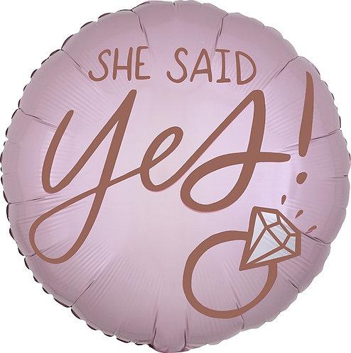 #571 Blush Wedding 18in Mylar Balloon