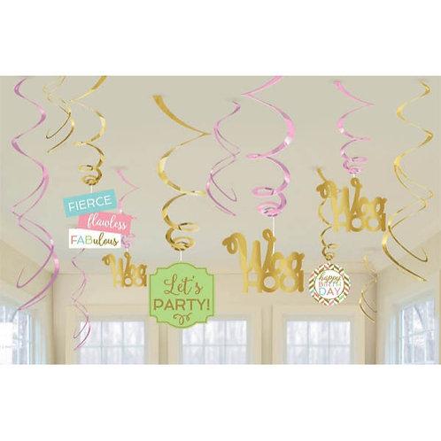Confetti Fun Value Pack Swirl Decoration