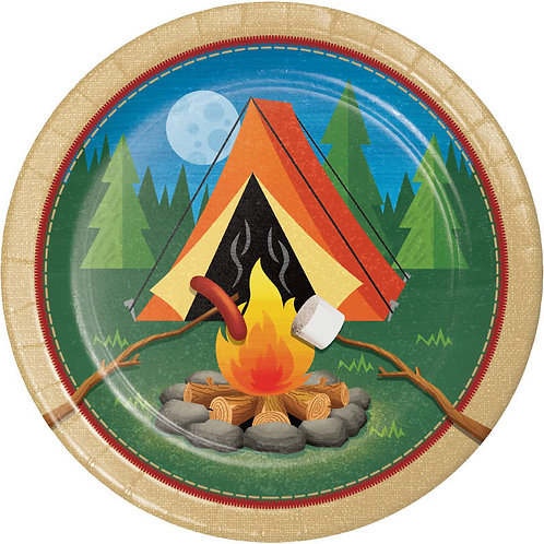 Camp Out Lunch Plates 8ct