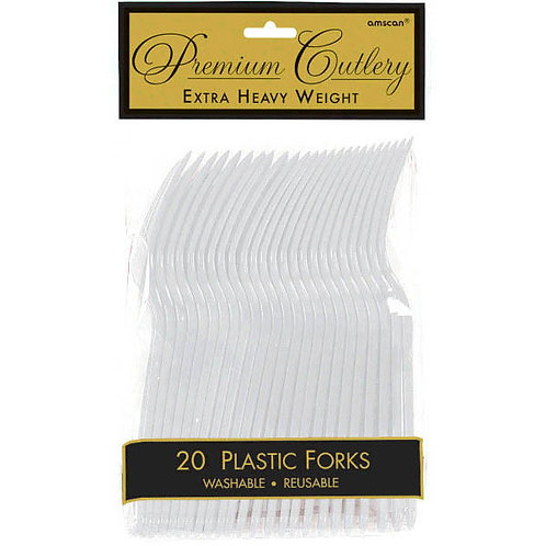 Silver Plastic Forks 20ct