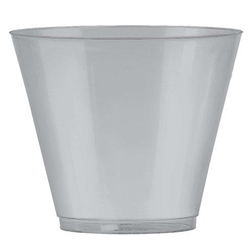 Silver 9oz Plastic Cups 72ct