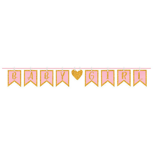 Clothespin Letter Banner - Girl