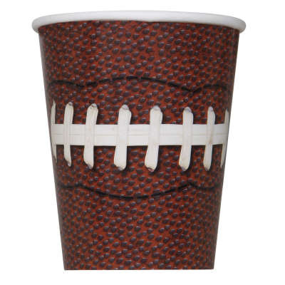 Football Party 9oz Paper Cups 8ct