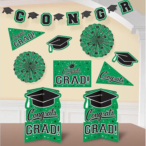Grad Room Decorating Kit - Green