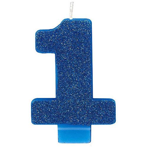 #1 Glitter Candle - Blue
