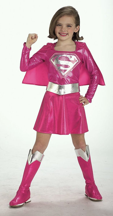 Child Pink Deluxe Supergirl Costume