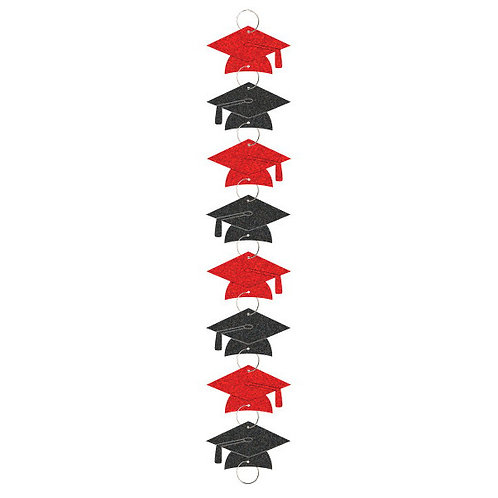 Graduation Ring Garland - Red