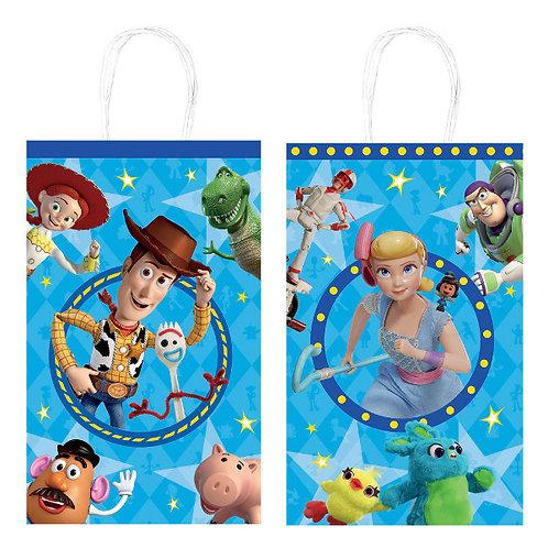 Toy Story 4 Printed Paper Kraft Bags 8ct