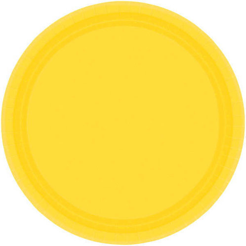 Yellow 9in Paper Plates 20ct