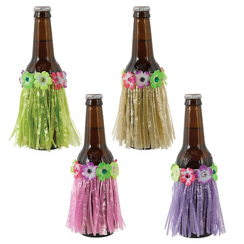 Tropical Jungle Grass Skirt Bottle Covers