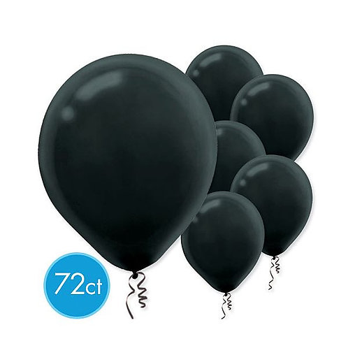 Black Latex Balloons - Packaged, 72ct